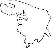 大阪府堺市堺区(さかいく)の白地図無料ダウンロード