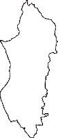 大阪府池田市(いけだし)の白地図無料ダウンロード