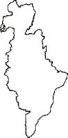 大阪府高槻市(たかつきし)の白地図無料ダウンロード