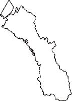 大阪府貝塚市(かいづかし)の白地図無料ダウンロード