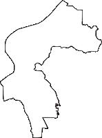 大阪府守口市(もりぐちし)の白地図無料ダウンロード