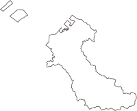 大阪府泉佐野市(いずみさのし)の白地図無料ダウンロード
