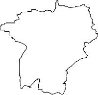 大阪府柏原市(かしわらし)の白地図無料ダウンロード