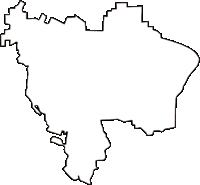 大阪府藤井寺市(ふじいでらし)の白地図無料ダウンロード