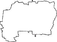 大阪府東大阪市(ひがしおおさかし)の白地図無料ダウンロード