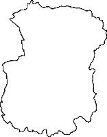大阪府交野市(かたのし)の白地図無料ダウンロード