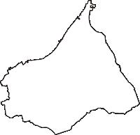 大阪府阪南市(はんなんし)の白地図無料ダウンロード