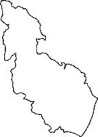 大阪府三島郡島本町(しまもとちょう)の白地図無料ダウンロード