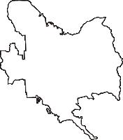 大阪府南河内郡河南町(かなんちょう)の白地図無料ダウンロード
