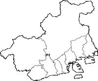 兵庫県神戸市神戸市(こうべし)の白地図無料ダウンロード