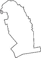 兵庫県神戸市長田区(ながたく)の白地図無料ダウンロード