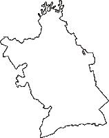 兵庫県神戸市須磨区(すまく)の白地図無料ダウンロード