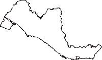 兵庫県明石市(あかしし)の白地図無料ダウンロード