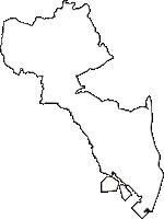 兵庫県西宮市(にしのみやし)の白地図無料ダウンロード