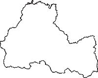 兵庫県豊岡市(とよおかし)の白地図無料ダウンロード