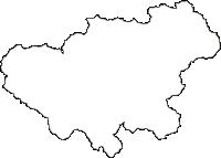 兵庫県養父市(やぶし)の白地図無料ダウンロード