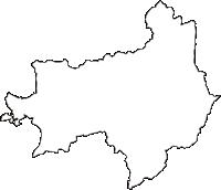 兵庫県加東市(かとうし)の白地図無料ダウンロード