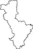 兵庫県川辺郡猪名川町(いながわちょう)の白地図無料ダウンロード
