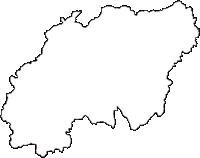 兵庫県赤穂郡上郡町(かみごおりちょう)の白地図無料ダウンロード