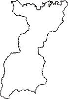 兵庫県美方郡香美町(かみちょう)の白地図無料ダウンロード