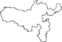 奈良県奈良市(ならし)の白地図無料ダウンロード