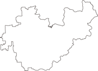 奈良県天理市(てんりし)の白地図無料ダウンロード