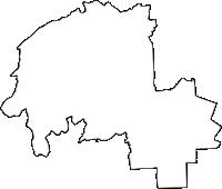 奈良県香芝市(かしばし)の白地図無料ダウンロード