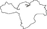 奈良県生駒郡三郷町(さんごうちょう)の白地図無料ダウンロード