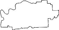 奈良県磯城郡川西町(かわにしちょう)の白地図無料ダウンロード