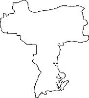 奈良県北葛城郡河合町(かわいちょう)の白地図無料ダウンロード