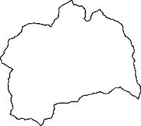 奈良県吉野郡黒滝村(くろたきむら)の白地図無料ダウンロード