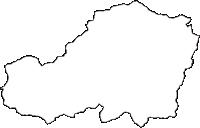 奈良県吉野郡天川村(てんかわむら)の白地図無料ダウンロード
