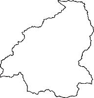 奈良県吉野郡東吉野村(ひがしよしのむら)の白地図無料ダウンロード