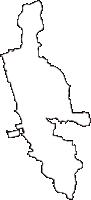 和歌山県御坊市(ごぼうし)の白地図無料ダウンロード