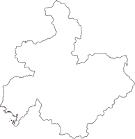和歌山県田辺市(たなべし)の白地図無料ダウンロード