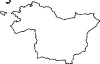和歌山県有田郡広川町(ひろがわちょう)の白地図無料ダウンロード