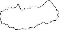 和歌山県有田郡有田川町(ありだがわちょう)の白地図無料ダウンロード