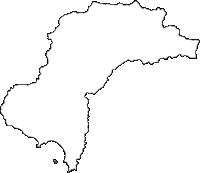 和歌山県日高郡みなべ町(みなべちょう)の白地図無料ダウンロード