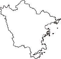和歌山県東牟婁郡那智勝浦町(なちかつうらちょう)の白地図無料ダウンロード