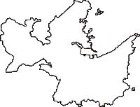 和歌山県東牟婁郡太地町(たいじちょう)の白地図無料ダウンロード