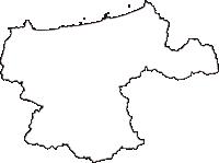 鳥取県鳥取市(とっとりし)の白地図無料ダウンロード