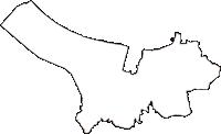 鳥取県米子市(よなごし)の白地図無料ダウンロード