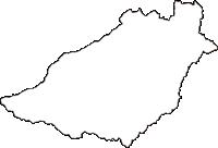 鳥取県倉吉市(くらよしし)の白地図無料ダウンロード