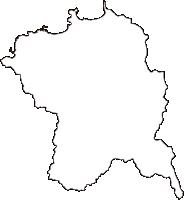 鳥取県岩美郡岩美町(いわみちょう)の白地図無料ダウンロード