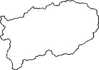 鳥取県八頭郡智頭町(ちづちょう)の白地図無料ダウンロード