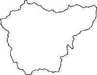 鳥取県八頭郡八頭町(やずちょう)の白地図無料ダウンロード