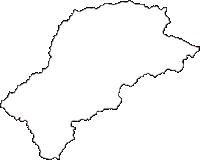鳥取県東伯郡三朝町(みささちょう)の白地図無料ダウンロード
