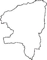 鳥取県西伯郡大山町(だいせんちょう)の白地図無料ダウンロード