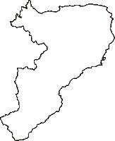 鳥取県西伯郡伯耆町(ほうきちょう)の白地図無料ダウンロード