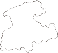 鳥取県日野郡日南町(にちなんちょう)の白地図無料ダウンロード